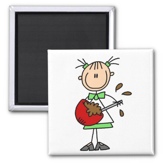 Girl Mixing Batter T-shirts and Gifts 2 Inch Square Magnet