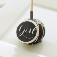 Girl | Modern Calligraphy Baby Shower Cake Pops