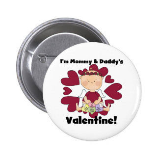 Girl Mommy and Daddy's Valentine Tshirts Pin