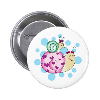 Girl: Mommy and Me! Fille: Maman et moi! Pinback Buttons