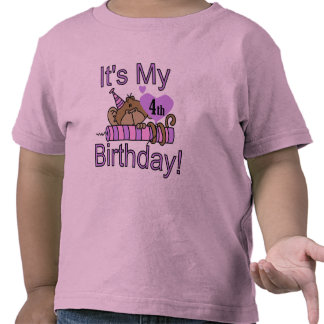 Girl Monkey 4th Birthday Tshirts and Gifts
