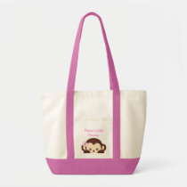Girl Monkey Diaper Bag Tote Bag
