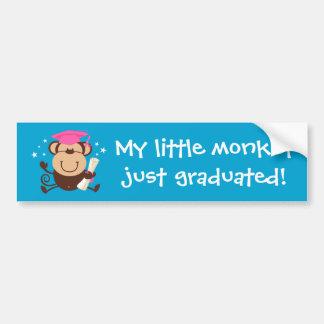 Girl Monkey Graduate Custom Bumper Sticker
