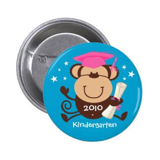 Girl Monkey Graduate Custom Pinback Button