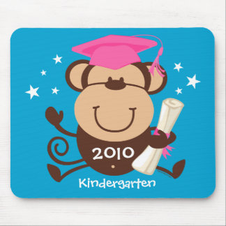 Girl Monkey Graduate Custom Mousepads