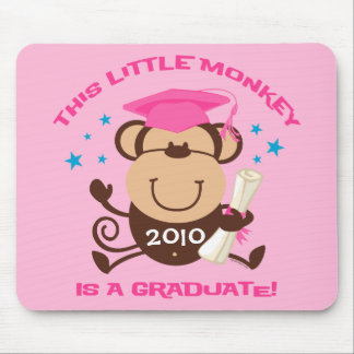 Girl Monkey Graduate Mousepad
