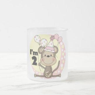 Girl Monkey in Party Hat 2nd Birthday Coffee Mug