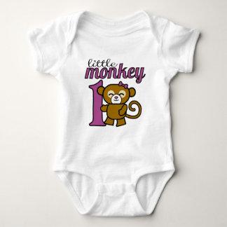 Girl Monkey is 1 Baby Bodysuit