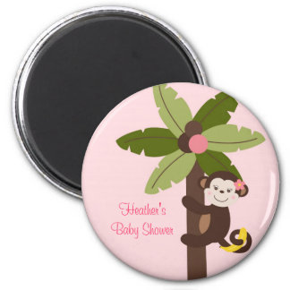Girl Monkey Jungle Party Favor Magnets