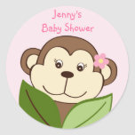 Girl Monkey Jungle Stickers Envelope Seals