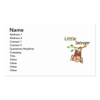 Girl Monkey Little Swinger Business Card Templates