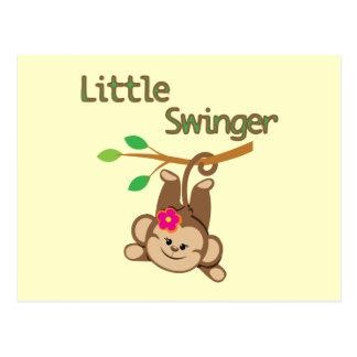 Girl Monkey Little Swinger Postcard