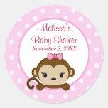 GIRL MONKEY Sweet Safari Baby Shower sticker SST#1
