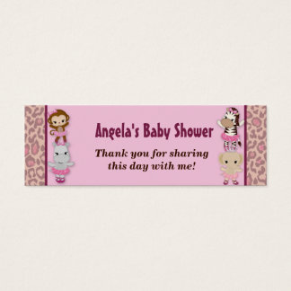 Girl MONKEY Tu Tu Cute Baby Shower Favor Tags TTC