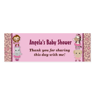 Girl MONKEY Tu Tu Cute Baby Shower Favor Tags TTC Mini Business Card