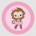 GIRL MONKEY Tu Tu Cute Baby Shower sticker TTC #9