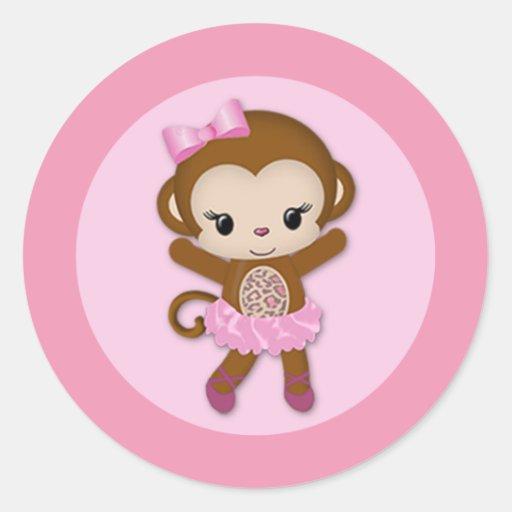 girl monkey baby shower labels girl monkey tu tu cute baby