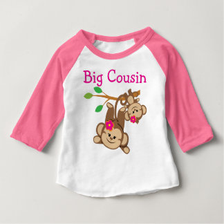 Girl Monkeys Big Cousin Baby T-Shirt