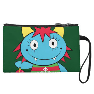 Girl Monster with Ornament Wristlet Purses