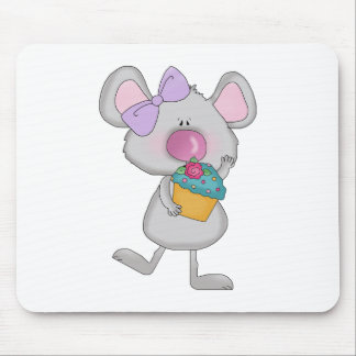 girl mouse with cupcake mouse pad