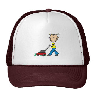 Girl Mowing Grass Hat