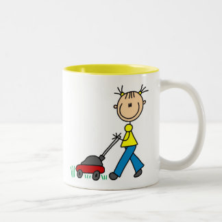 Girl Mowing Grass Mug