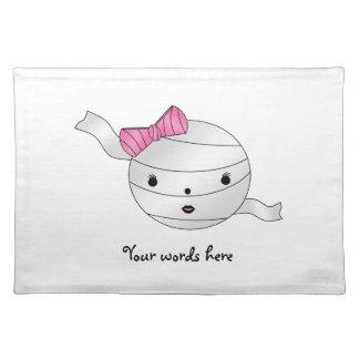 Girl mummy place mat
