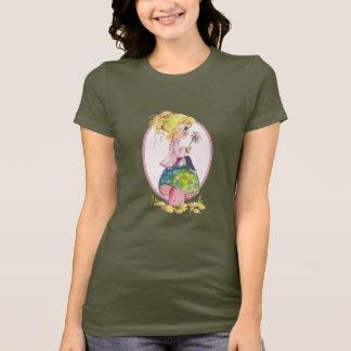 GIRL & MUSHROOM by SHARON SHARPE T-Shirt