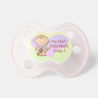 Girl My 1st Valentine's Day  Pacifier