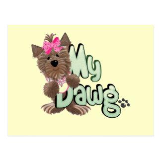 Girl My Dawg Tshirts and Gifts Postcard