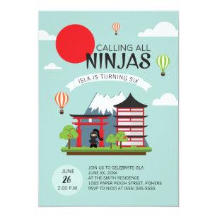 Japanese girl party gifts on zazzle girl ninja birthday party invitation japanese stopboris Images