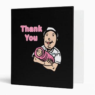 girl nurse thank you 3 ring binder