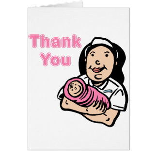 girl nurse thank you greeting cards