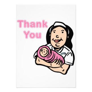 girl nurse thank you custom announcement