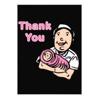 girl nurse thank you custom invites