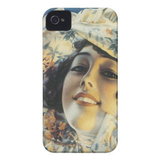 Girl Of Mine Vintage Sheet Music Blue Floral Hat iPhone 4 Case
