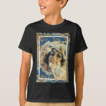 Girl Of Mine Vintage Sheet Music Blue Floral Hat T-Shirt