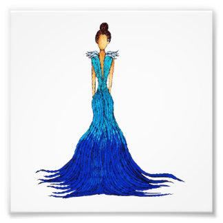 Girl of Water Dress - Ripple Photo Print