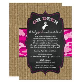 GIRL Oh Deer Buck Baby Sprinkle with camo Card