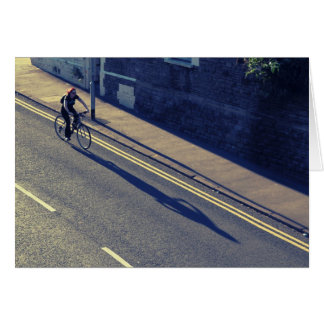 Girl on a Bicycle (Cross Process) Greeting Card