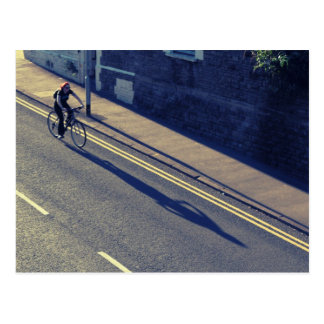 Girl on a Bicycle (Cross Process) Postcard