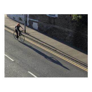 Girl on a Bicycle Postcard