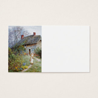 Girl on a Cottage Pathway Business Card