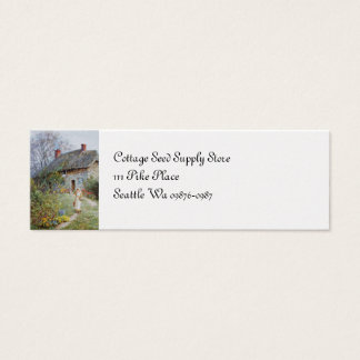 Girl on a Cottage Pathway Mini Business Card