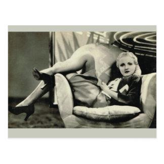 Girl on a cushion post cards