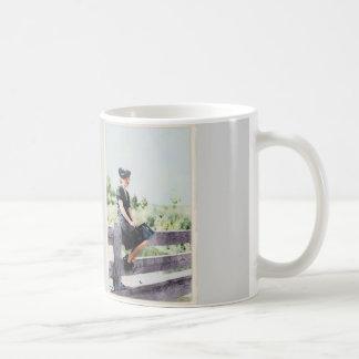 Girl on a Fence 1940 Coffee Mug