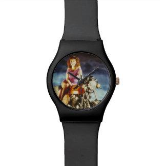 Girl On A Motorbike Wrist Watch
