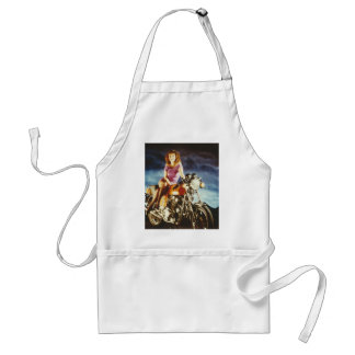 Girl On A Motorcycle Gifts Apron