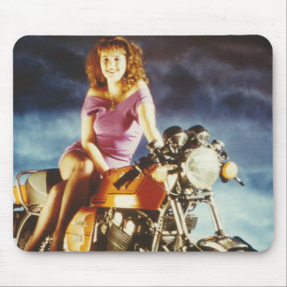 Girl On A Motorcycle Gifts Mouse Pad