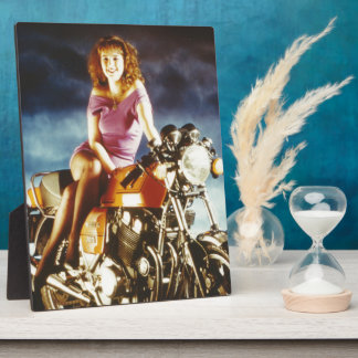 Girl On A Motorcycle Gifts Plaques
